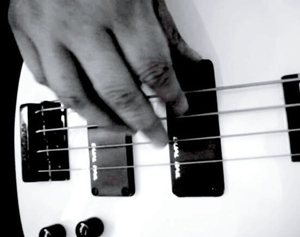 Human Body Part Human Hand Close-up Bass Guitar