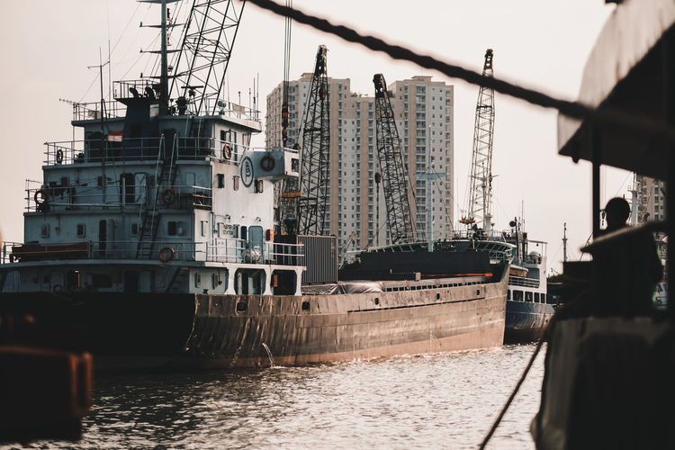 Nautical Vessel Water Transportation Mode Of Transportation Waterfront Nature Architecture Built Structure Sky Sea Day Ship Outdoors Travel Building Exterior Incidental People City Machinery Freight Transportation Passenger Craft