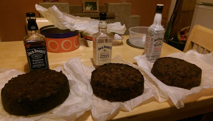 Xmas cakes... One laced with jd, one with honey jd and one with winter jd. Check This Out The Cake!  Food Porn Skipton