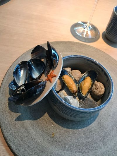 Mussels by NOMA Reneredzepi Michelin Star NoMa NoMa SHELLFISH  Mussels EyeEm Selects Table Food Food And Drink Freshness