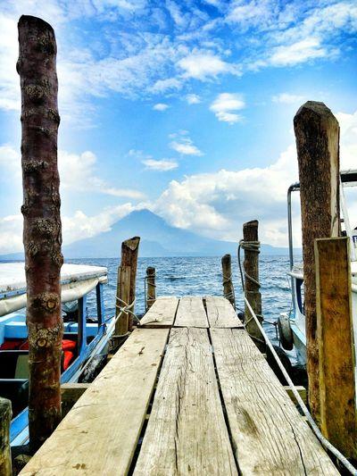 "Lake Atitlán in Guatemala. Also know as ""Panajachel"". Outdoors Lake View Volcano Guatemala Panajachel  Atitlan Lake Nature"