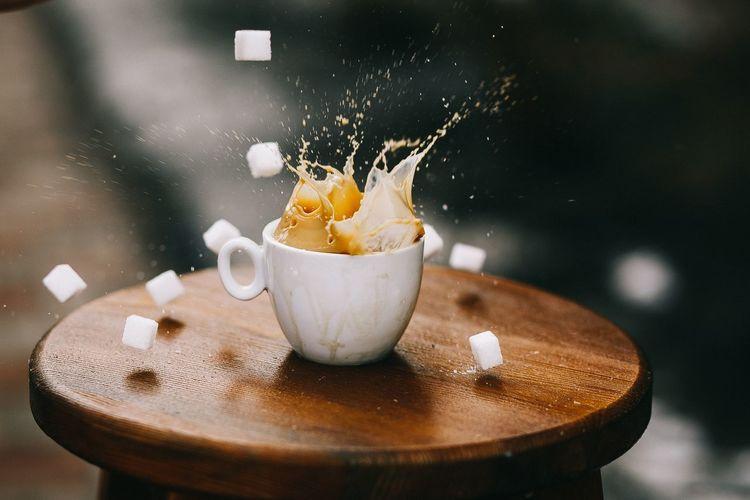 Coffee time ☕️ Tasty Arabica Americano Coffee Cappuccino Sugar Sugar Cube Coffee Time Coffee