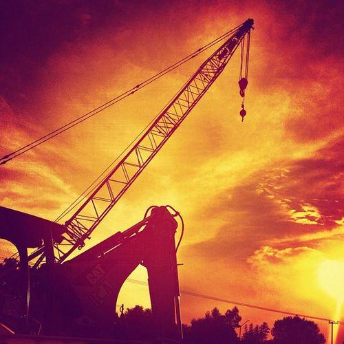 Grua Crane Atardecer Sunset orange anaranjado construction mexicocity df photooftheday picoftheday cielo sky fotodeldia urban mextagram instamood instagram instagood instahub igers backlight contraluz lalojm1 2012