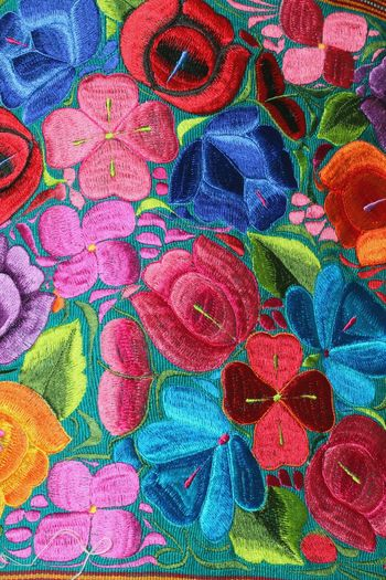 Textiles Multi Colored Backgrounds Full Frame Textile Close-up ArtWork Colorful Textured  Fabric Handmade
