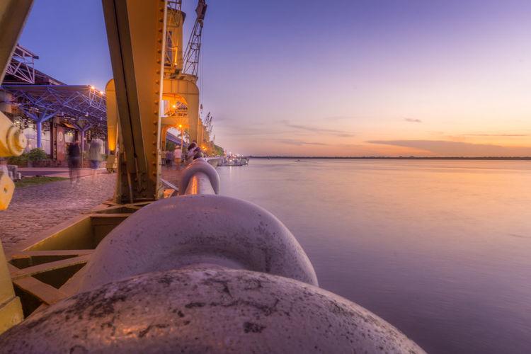 EyeEm Selects Sunset Water Horizon Over Water Outdoors Clear Sky Enjoying The Sun Reflection Cloud - Sky