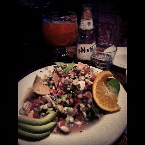 Way to end my night. Ceviche Michiladas Loscompadres