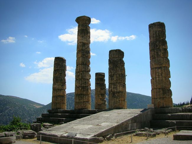 Ancient Temple History Architecture Built Structure Old Ruin Ancient Columns Ancient Civilization Architectural Column Archaeology Delphi Columns And Pillars Posts Monument Monuments Ancient Architecture Ancient Monument Ancient Greek Ancient Ruins Ancient Culture Ancient History Travel Pillars