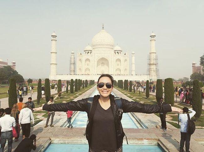 Taj Mahal of India: Checked! อีกหนึ่งไฮไลท์การเดินทางของรชาครั้งนี้ .. ทัช มาฮาล! สุสานแห่งความรักของจักรพรรดิชาห์ จาฮานที่มีต่อพระมเหสีมุตตัซ มาฮาลผู้เป็นที่รัก Agra Rachatravelsindia