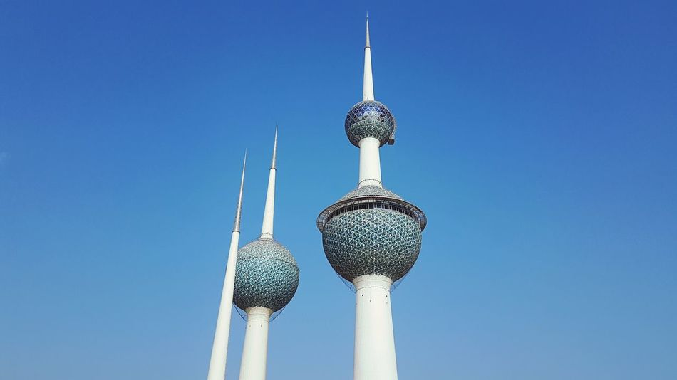 EyeEm Selects Tower Architecture Sky Outdoors City Blue Day Kuwait Kuwait Towers
