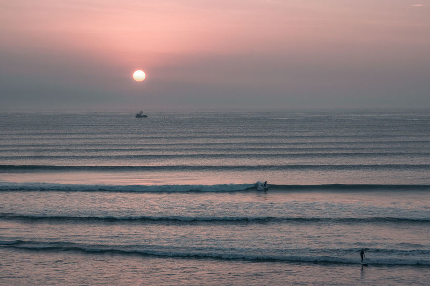 Apparently the longest left in the world. Surfer's paradise. South America Latin America Surf Surfing Water Sea Seascape Ocean Beach Outdoors Nature Beauty In Nature Horizon Over Water Adventure Aquatic Sport Leisure Activity Orange Color Idyllic Motion Sunset Tranquility Horizon Wave Sun Tranquil Scene