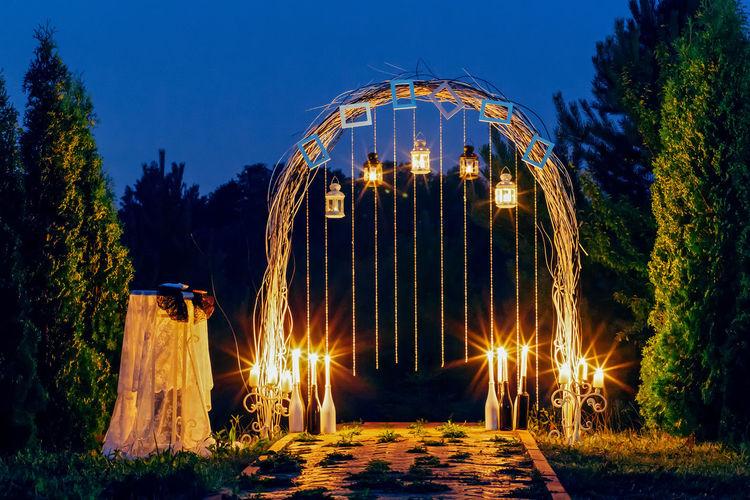 Wedding arch is