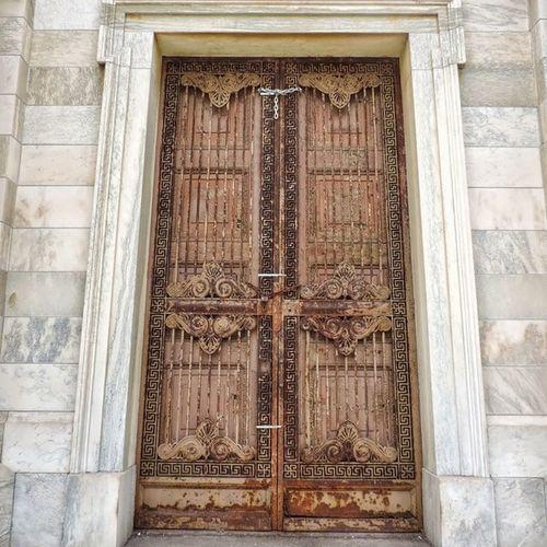 Cemetery Columbus Door Intricate .