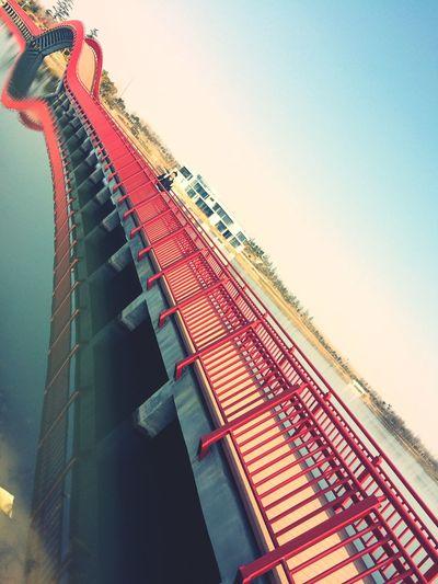 Taking Photos Hello World Construction Bridge