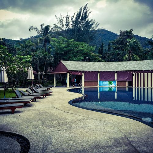No People Sky Day Outdoors Nature Thailand Poolside Cloudy Relax Relaxing ♥ Tree Built Structure Architecture Building Exterior Gazebo Pool Pool Time Relaxation Thailand Photos Phuket,Thailand Deevana Patong Resort