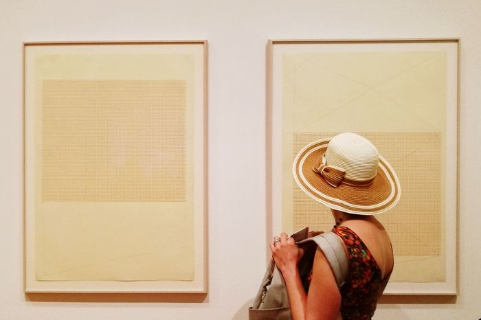 Visiting MoMa Museum Museum Of Modern Art Moma New York New York City USA Newyorkcitylife Travel Photography Photography Themes Women Camera - Photographic Equipment Rear View Photograph Hat Close-up Straw Hat Frame Sun Hat