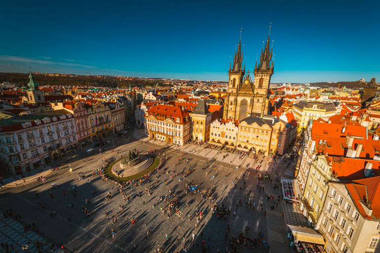 Architecture Building Exterior Built Structure City Cityscape Day High Angle View No People Outdoors Prague Sky Travel Destinations