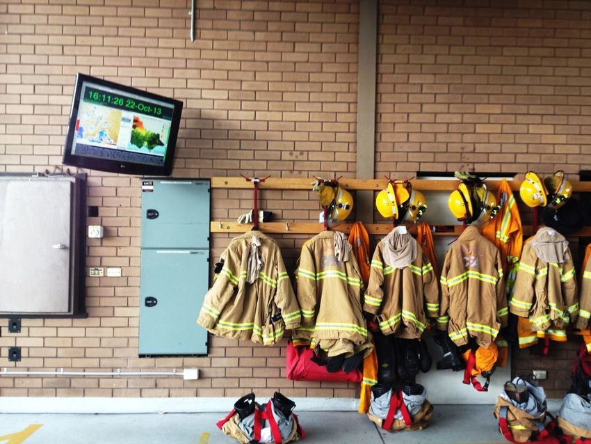 FIRE FIGHTERS ON CALL. Fire Fighter Bush Fire