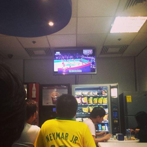 Neymar watching FIBA. Lol! ? LabanPilipinas GoGilas Fiba2014 Puertorico proudpinoy Puso
