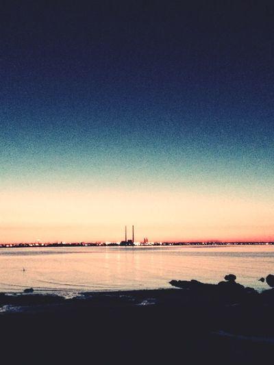 Horizon Silhouette City Lights Dusk Cityscapes