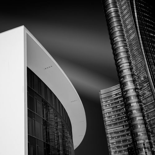 Envision I Architecture Black And White Blackandwhite Building Building Exterior City Exterior Fine Art Photography Glass - Material Modern Office Building Skyscraper Structure Tall - High Tower Window