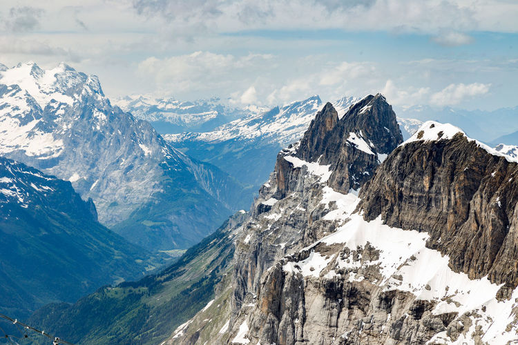 Alpes Mountain View Alpes Beauty In Nature Cloud - Sky Cold Temperature Day Environment Landscape Mountain Mountain Peak Mountain Range Mountains No People Scenics - Nature Sky Snow Snowcapped Mountain Tranquil Scene Tranquility