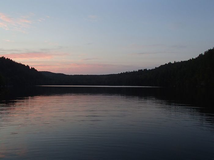 Coucher de soleil sur le Lac Jackson - Jackson Lake Sunset (Mauricie) Water Sky Tranquil Scene Tranquility Beauty In Nature Scenics - Nature Lake Sunset Nature Reflection Cloud - Sky Idyllic