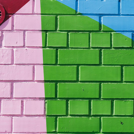Architecture Art And Craft Backgrounds Brick Brick Wall Building Exterior Built Structure Close-up Day Design Full Frame Geometric Shape Green Color Multi Colored No People Pattern Shape Textured  Wall Wall - Building Feature