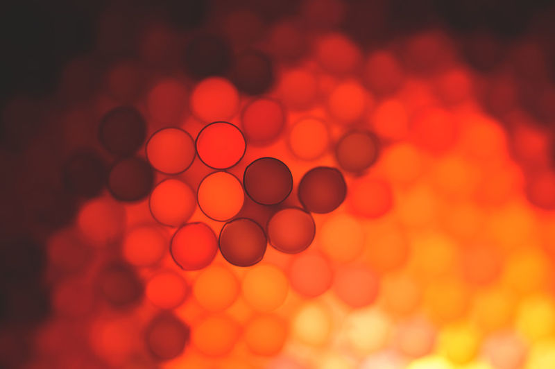 Close-up of illuminated straws