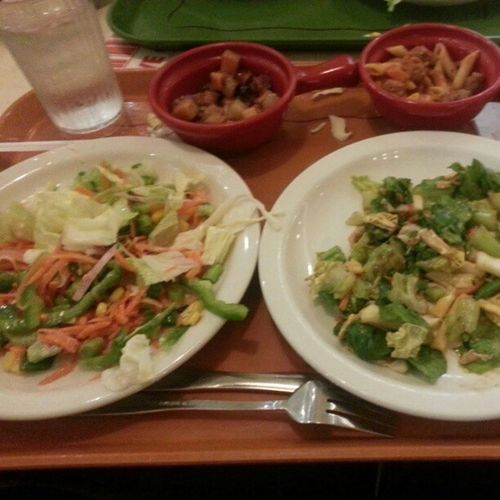 Me being a glutton with @kambyqt . Foodie Food Salads Pasta meatballs sweetPotato