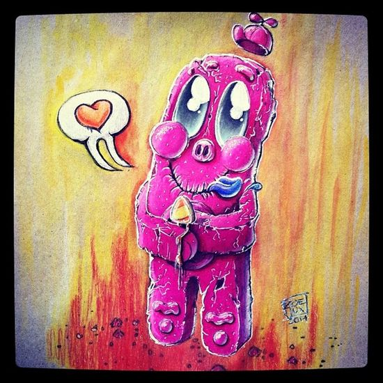 Gingerbreadman and the icecream. Gingy Gingerbreadman Kekse Keks cake prisma prismacolor prismacolorpencil colourpencil pencil drawing colours wachsfarben 3darts icejux zoejux buntstifte illustration sketching sketch skizze zeichnung arts instaartist instaarts followme.