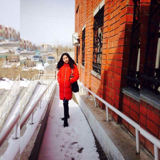 Erdenet City Winter One Woman Only