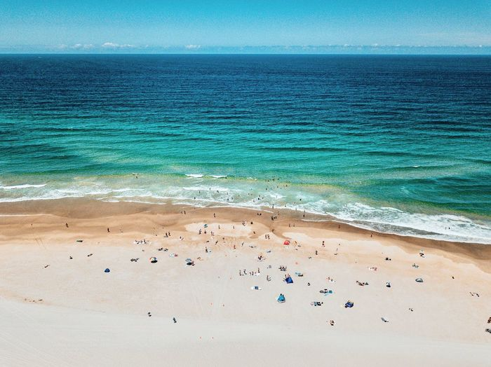 Beach Land Water Sea Sand Beauty In Nature Nature Tranquility Tranquil Scene Day Scenics - Nature Sky Idyllic Blue Sunlight No People Outdoors Summer Holiday Horizon Over Water