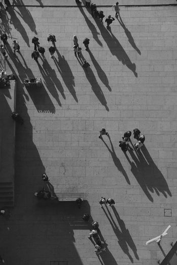 High Angle View Architecture Sunlight Day Group Of People Streetwise Photography