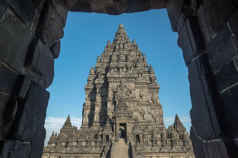 Prambanan temple Built Structure Architecture Building Exterior Religion Belief Spirituality Place Of Worship Outdoors No People Day Nature Travel Destinations Tourism Spire  Low Angle View History Travel Building The Past Sky Capture Tomorrow