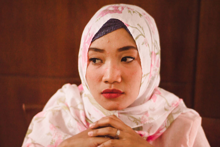 Asian  Beautiful Colourful Diversity Inner Power Lifestyle Woman Beauty Close-up colour of life Face Females First Eyeem Photo Girls Headshot Hijab Indoors  Lifestyles Model Muslim One Person People Portrait Real People Women