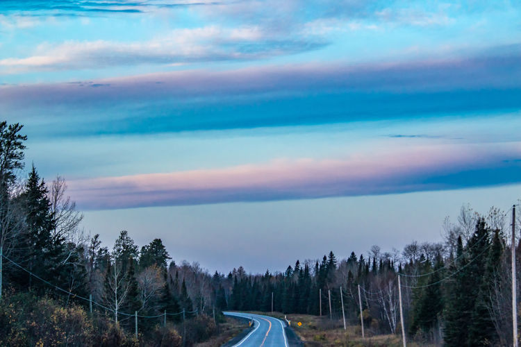 Panoramic view of road against sky