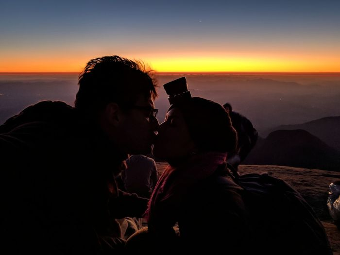 Love in The highest. #NotYourCliche Love Letter Astronomy Sunset Adventure Silhouette Sky Landscape