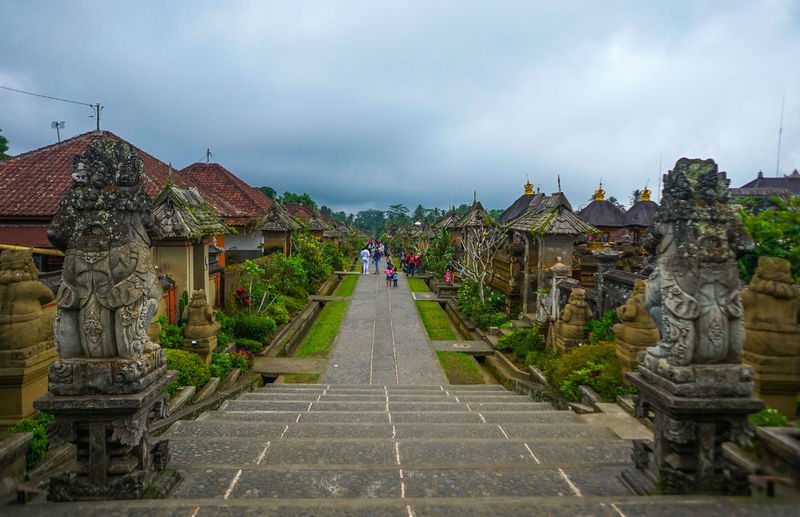 Penglipuran traditional Balinese village Religion Architecture Belief Spirituality Built Structure Cloud - Sky Sky Place Of Worship History Incidental People The Past Building Nature Travel Destinations Art And Craft Statue Day Sculpture Travel Outdoors
