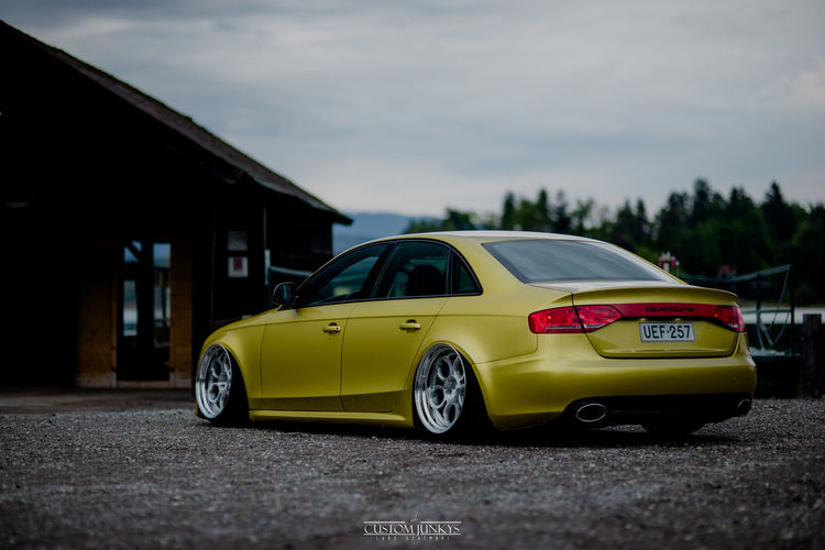Airride Audi Audi A4 Car Day Fitment Low No People Outdoors RAD48 Stance Stanced Tyerstrech