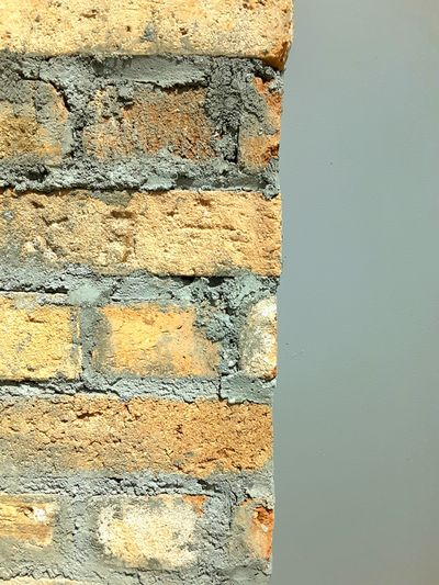 Brick Wall Grey Paint Wall - Building Feature Cement Structures Shapes Buildings Exposed Bricks Random Photography