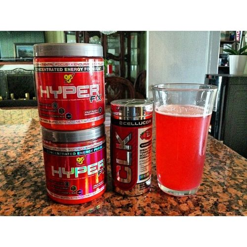 Changing it up for 30 days Cellucor Clk  BSN HyperFX supplements fitness toomuchred