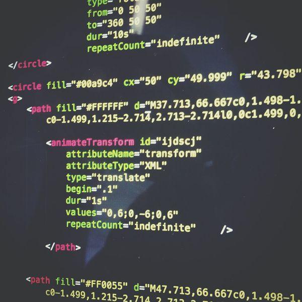 coding animation—SVG