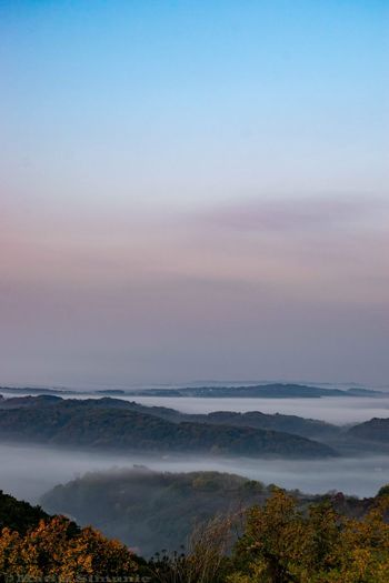 Misty hills of zagorje county in Croatia. Mist Nature EyeEmNewHere Nature Photography Croatia Dawn Sunrise Hills Beauty Blue