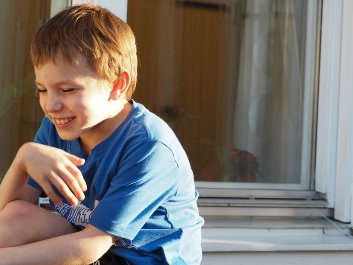 Natural Light Portrait Portrait Portrait Of A Child Portrait Of My Son My Son :) My Son My Son ❤ Portrait Photography Eye4photography  Olympus Pen Lite E-PL7 Check This Out Eye Portrait Laughing Blue Shirt Outside EyeEm Best Shots Portraits Son Boy Child Sun In Face Enjoying Life Relaxing Cheese! Hi!