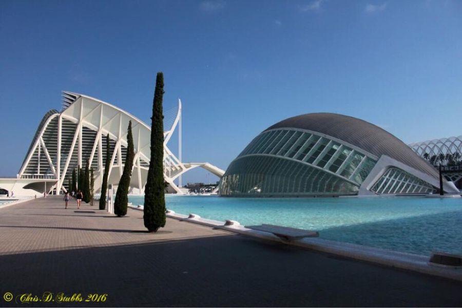 Architecture in Valencia Spain. Architecture Travel Modern City Valencia, Spain