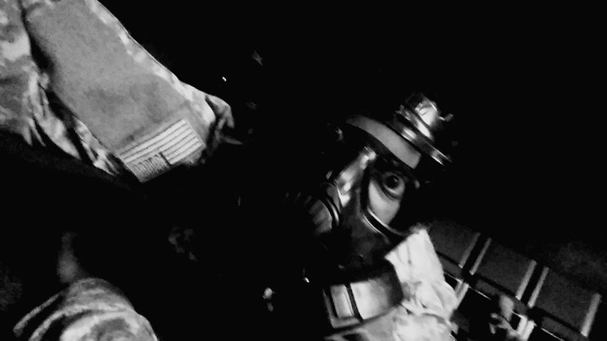 Gas Mask Black White Black And White Fort Bragg At Annual Training Simulated Shooting Check This Out M4