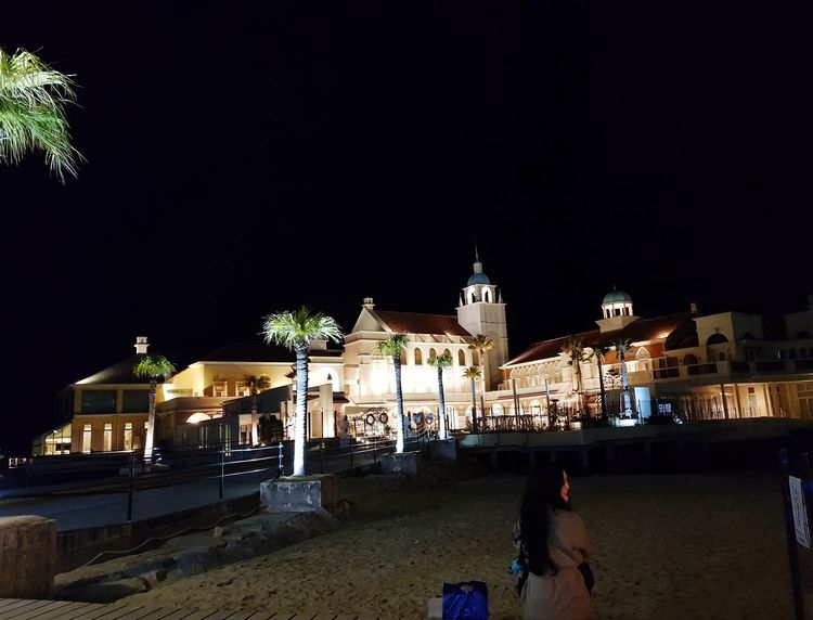 Beach Night Architecture History Travel Destinations Building Exterior Illuminated Sky No People Outdoors Cityscape