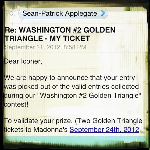 Madonna, MDNA TOUR, GOLDEN TRIANGLE