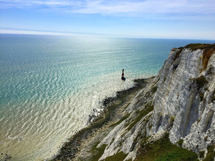 Beachy Head Beauty In Nature Chalk Cliffs Cliff Day Horizon Over Water Nature Ocean Sea Water England