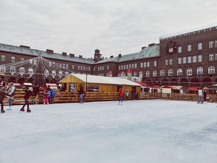 Iceskating Ice Szeged Winter Wintertime Winter Sport Xmas Xmas Decorations Snow Winter Cold Temperature Sky Architecture Building Ice-skating Ice Skate Exterior